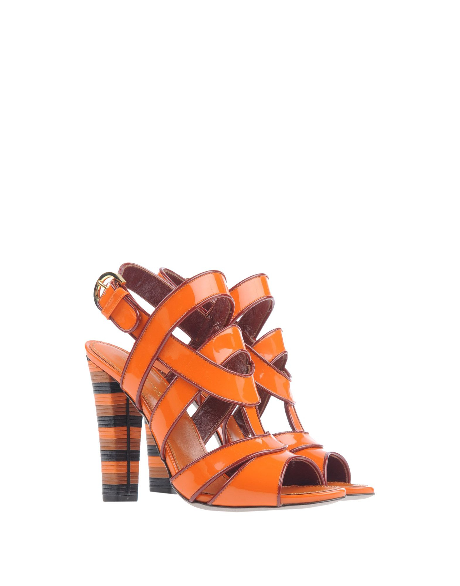 sergio rossi sandals in orange lyst. Black Bedroom Furniture Sets. Home Design Ideas