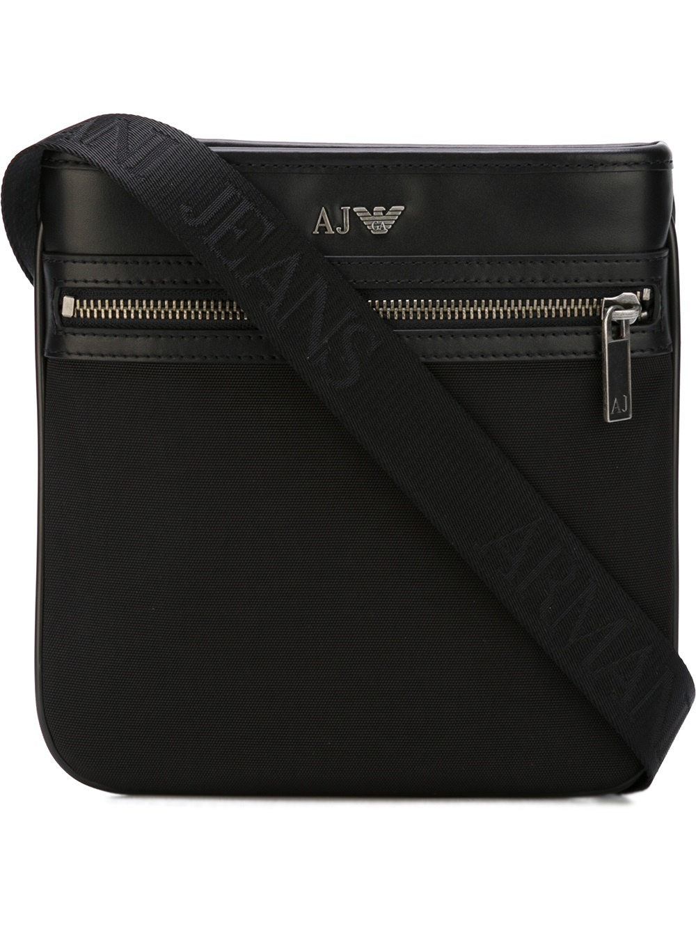 Lyst - Armani Jeans Nylon Messenger Bag With Detail In Leather in ... d819646e08a6b