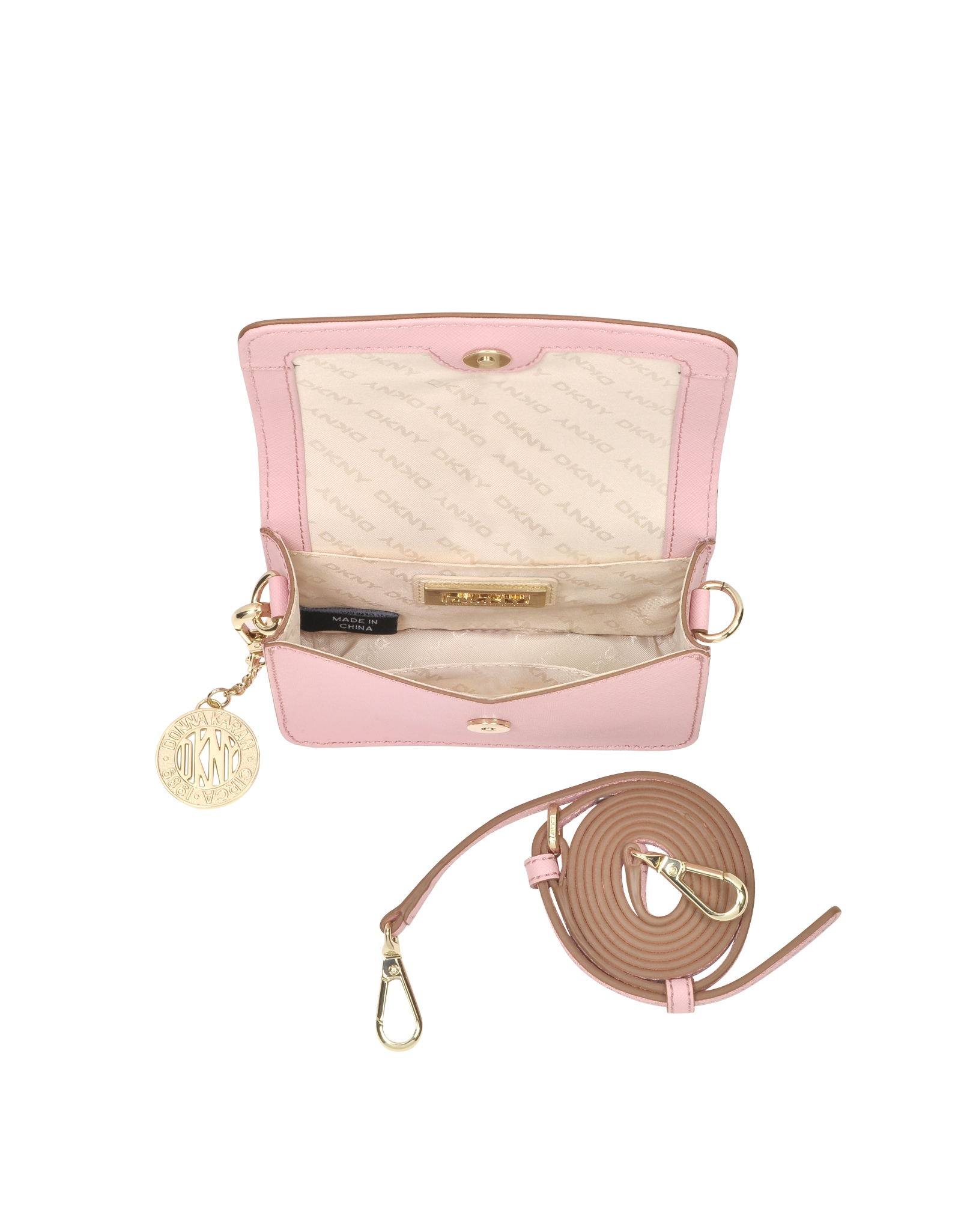 a6c046e0206 Dkny Bryant Park Mini Pink Saffiano Leather Crossbody Bag In Lyst