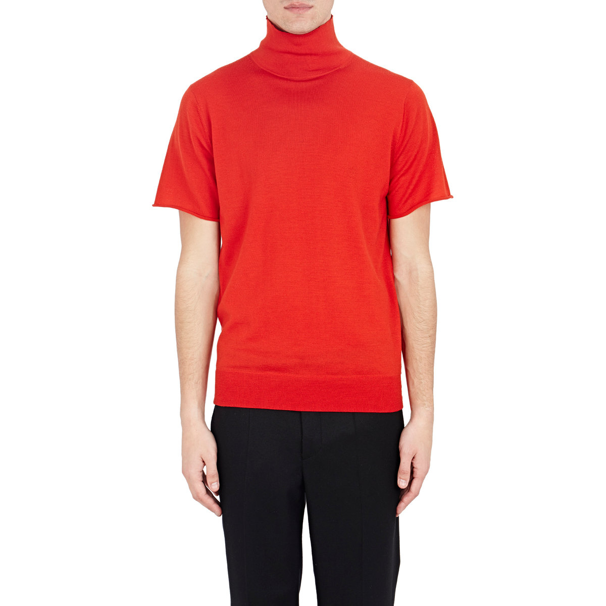 Givenchy Short-sleeve Turtleneck Sweater in Red for Men | Lyst