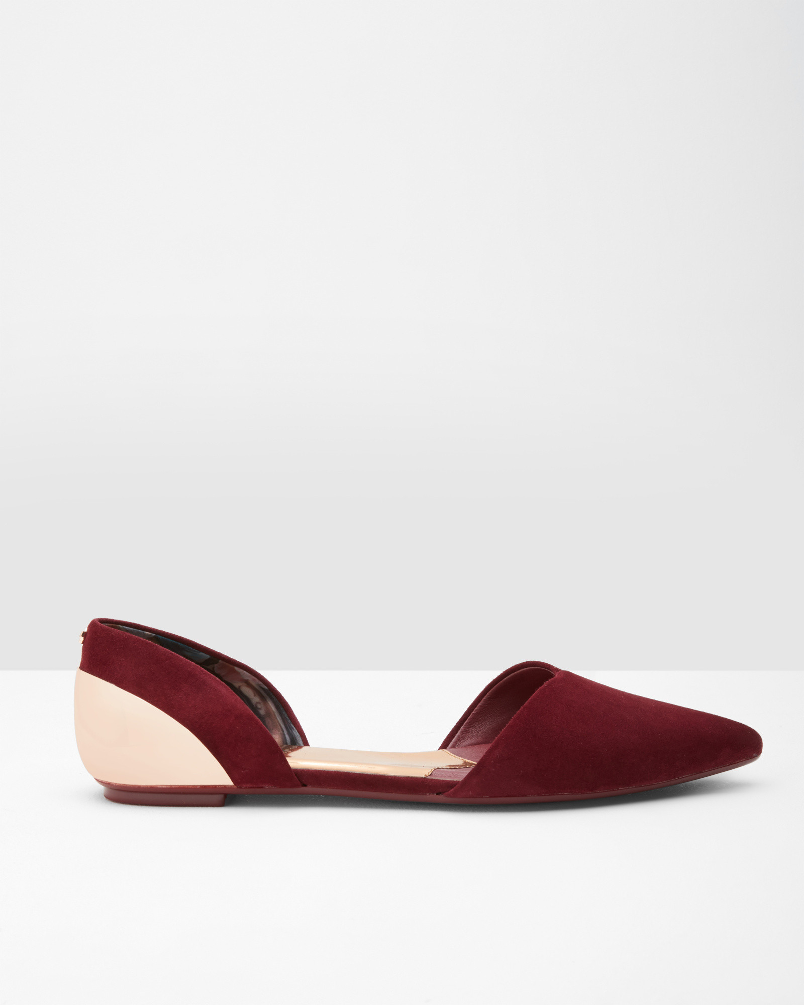b15c8369151f9 Ted Baker Pointed Leather Flat D orsay Shoes in Red - Lyst
