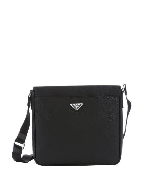 ... amazon lyst prada black saffiano leather messenger bag in black for men  41b29 96766 ... 3206ae7966