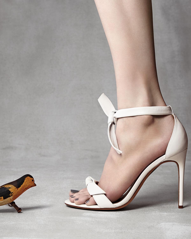 e82e72f9da7 Lyst - Alexandre Birman Naked Napa Knot Ankle-tie Sandal in White