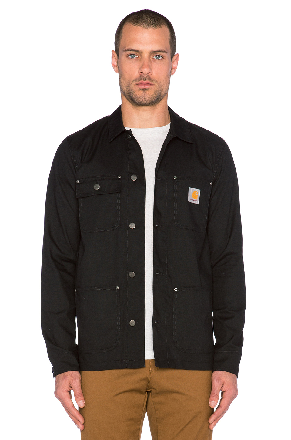 Lyst Carhartt Wip Michigan Coat In Black For Men