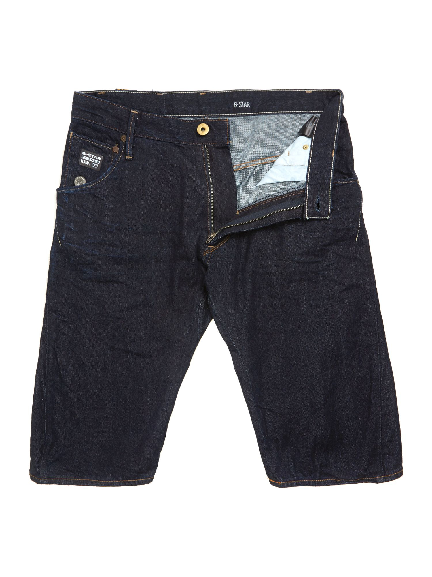 g star raw arc 3d loose tapered denim shorts in blue for. Black Bedroom Furniture Sets. Home Design Ideas