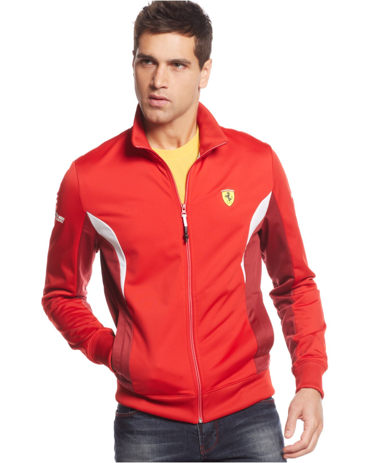 puma official front ferrari softshell red s jacket licensed products replica soft shell