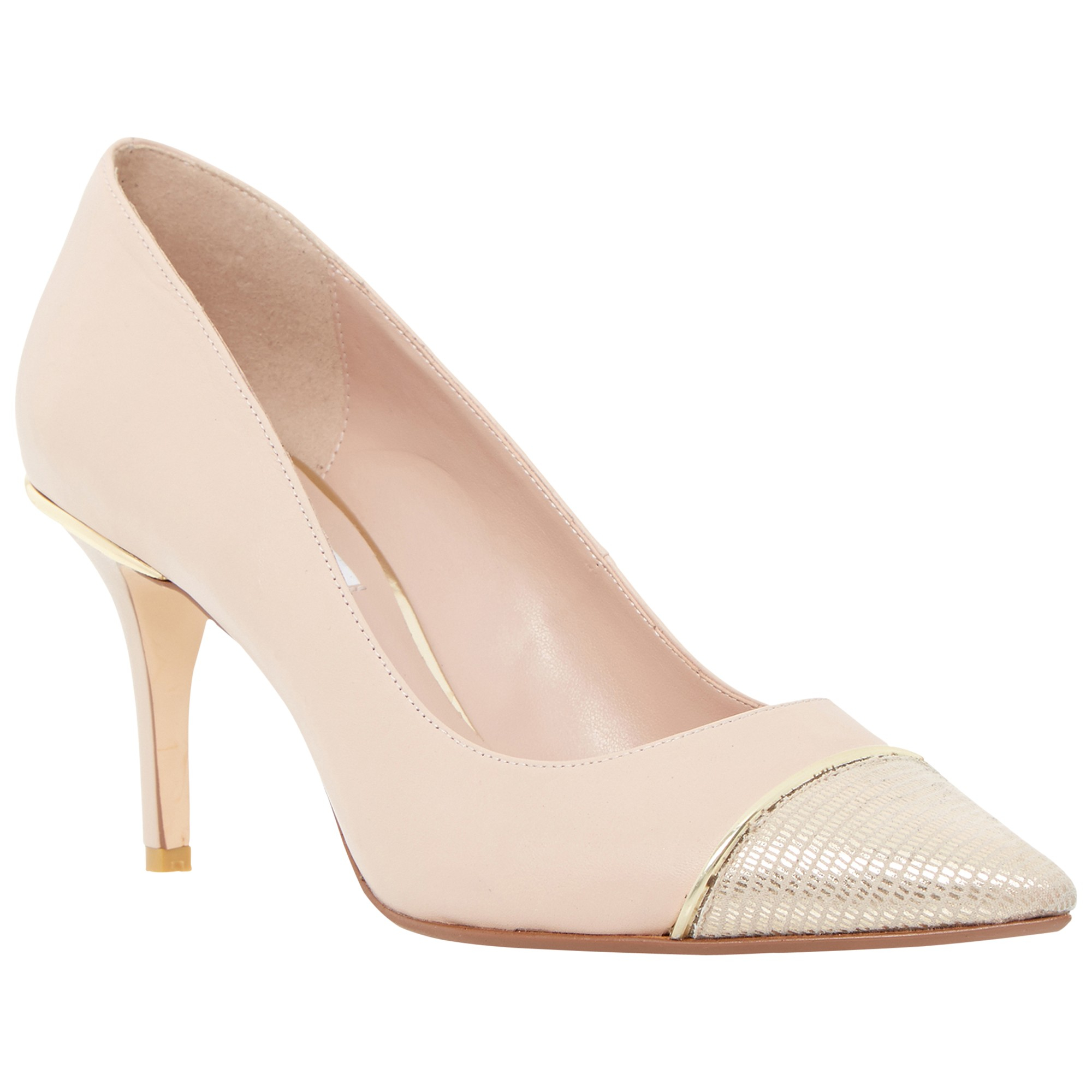 dune bellina stiletto heeled court shoes in pink lyst