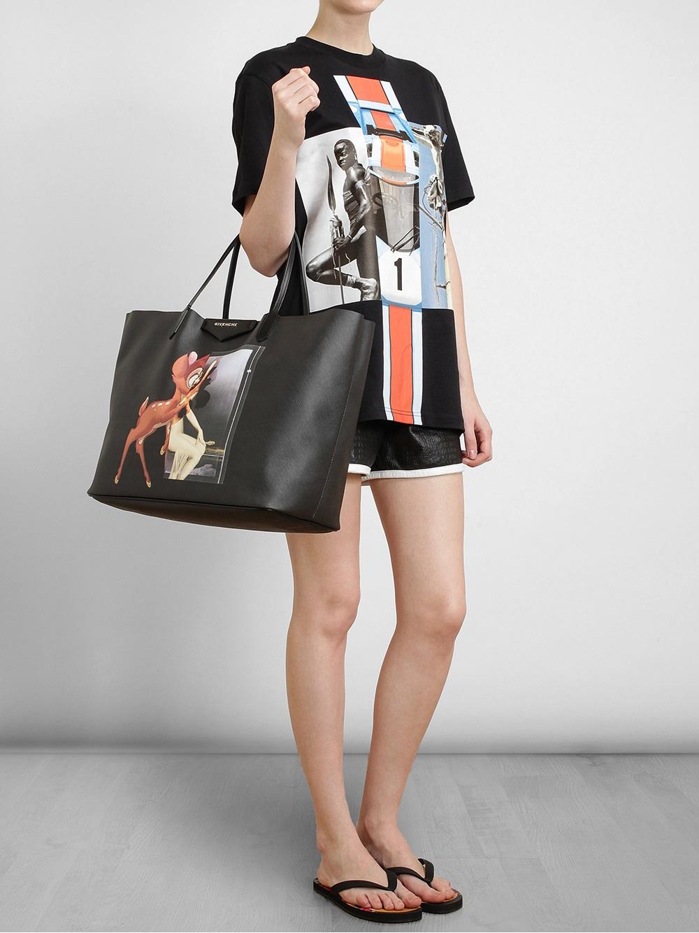 45c9d8b1ae Lyst - Givenchy Antigona Bambi Tote in Black