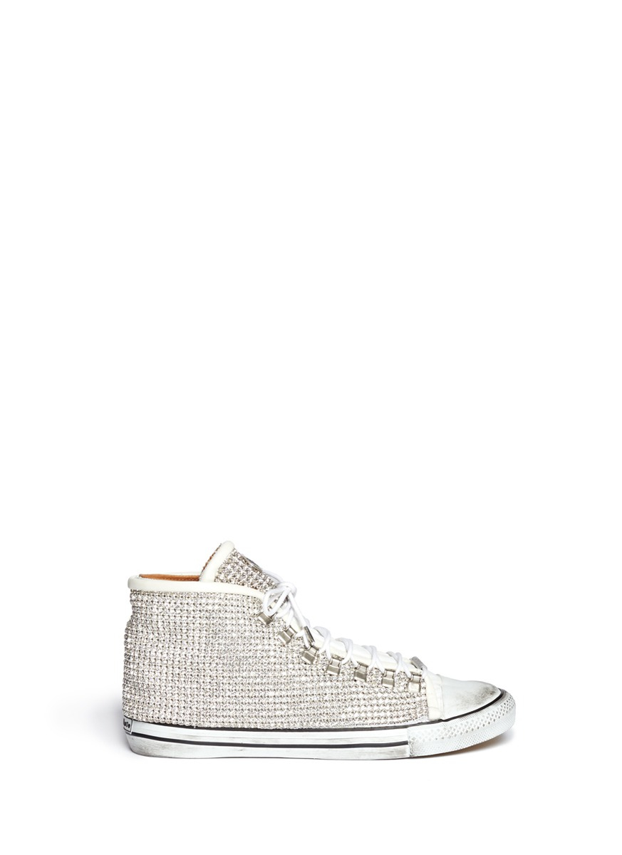 165aa0a3d8a335 Lyst - Black Dioniso Swarovski Vintage Sneakers in Metallic for Men