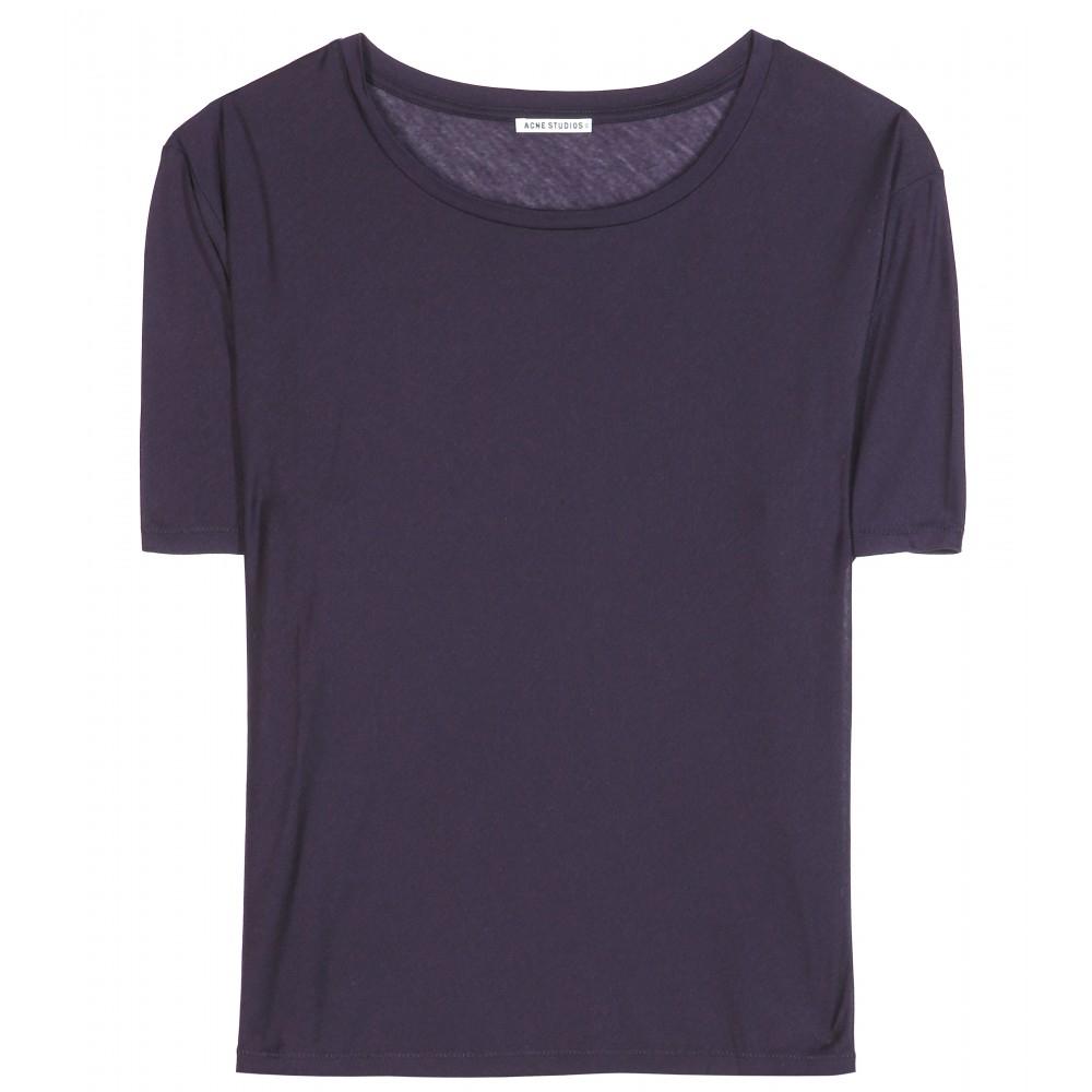 Lyst Acne Studios Wonder Ten Jersey Tshirt In Blue
