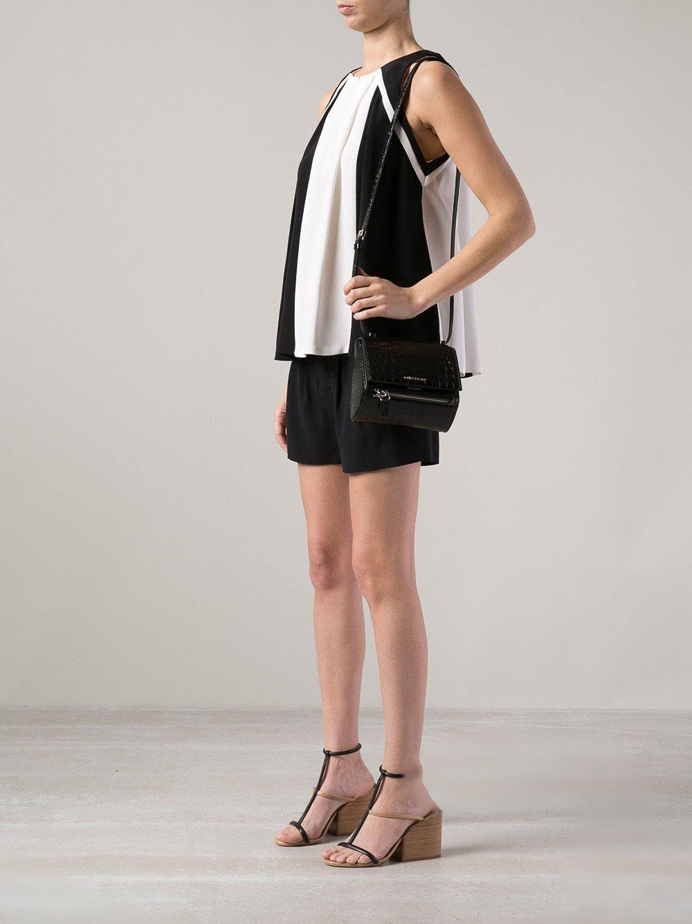 7536f34328 Givenchy Mini Pandora Box Bag in Black - Lyst