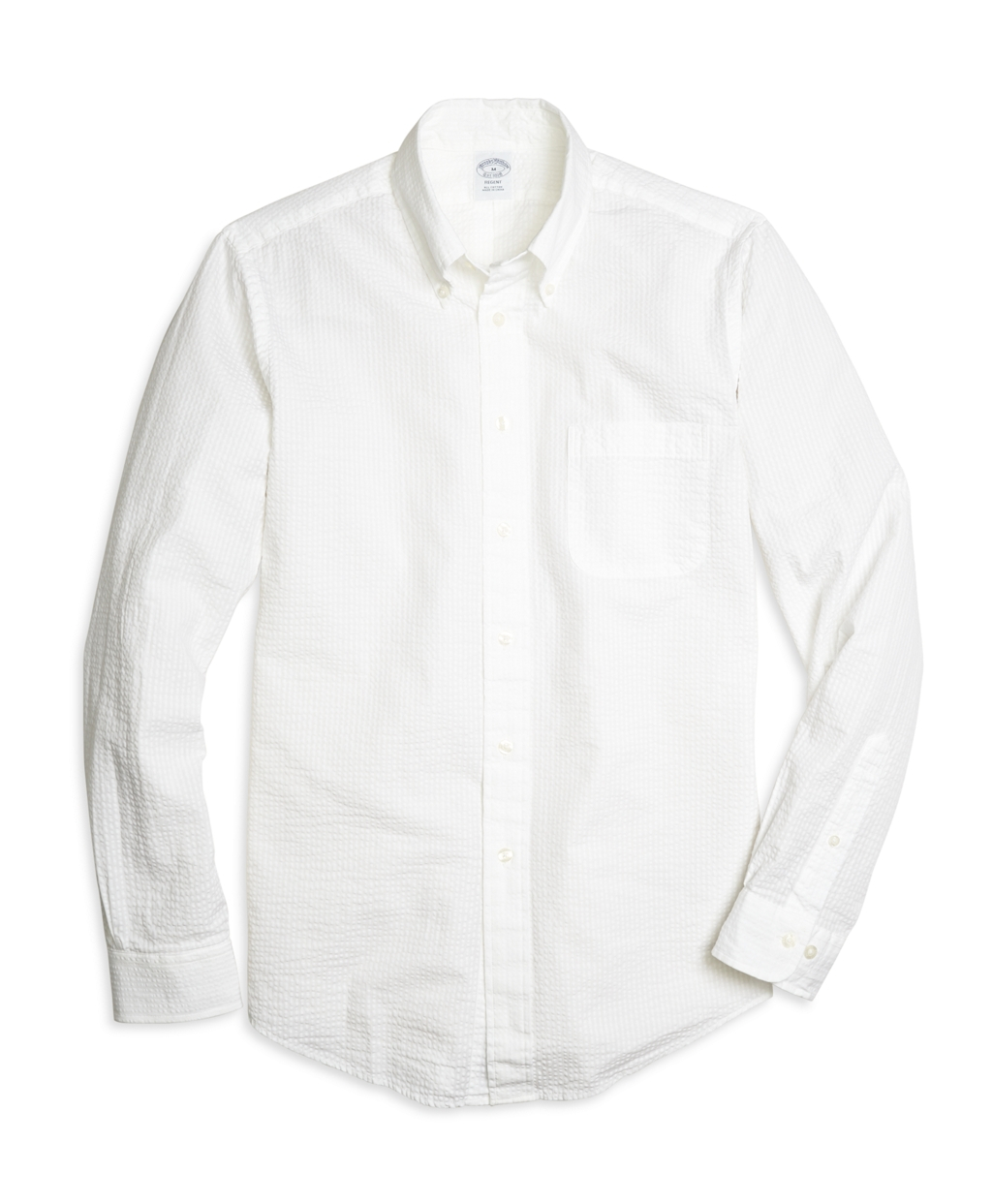 Brooks brothers regent fit seersucker stripe sport shirt Brooks brothers shirt size guide