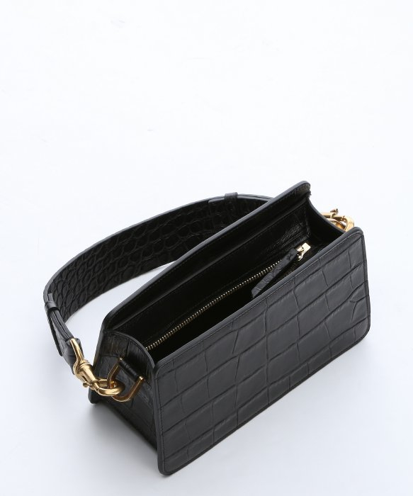 how to spot a fake chloe marcie bag - Lanvin Black Croc-embossed Calfskin Small Shoulder Bag in Animal ...