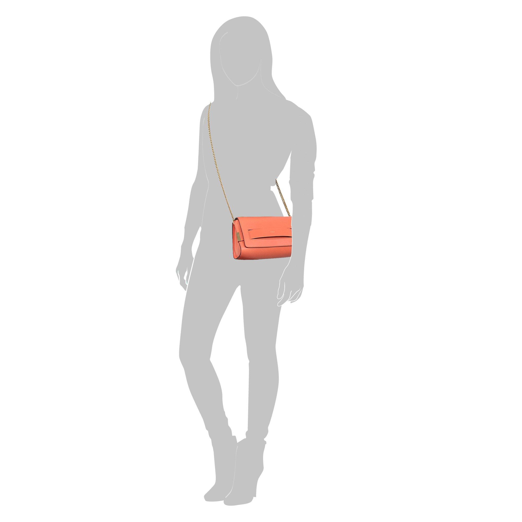 knock off chloe bag - Chlo�� Elle Medium Clutch Bag in Orange | Lyst