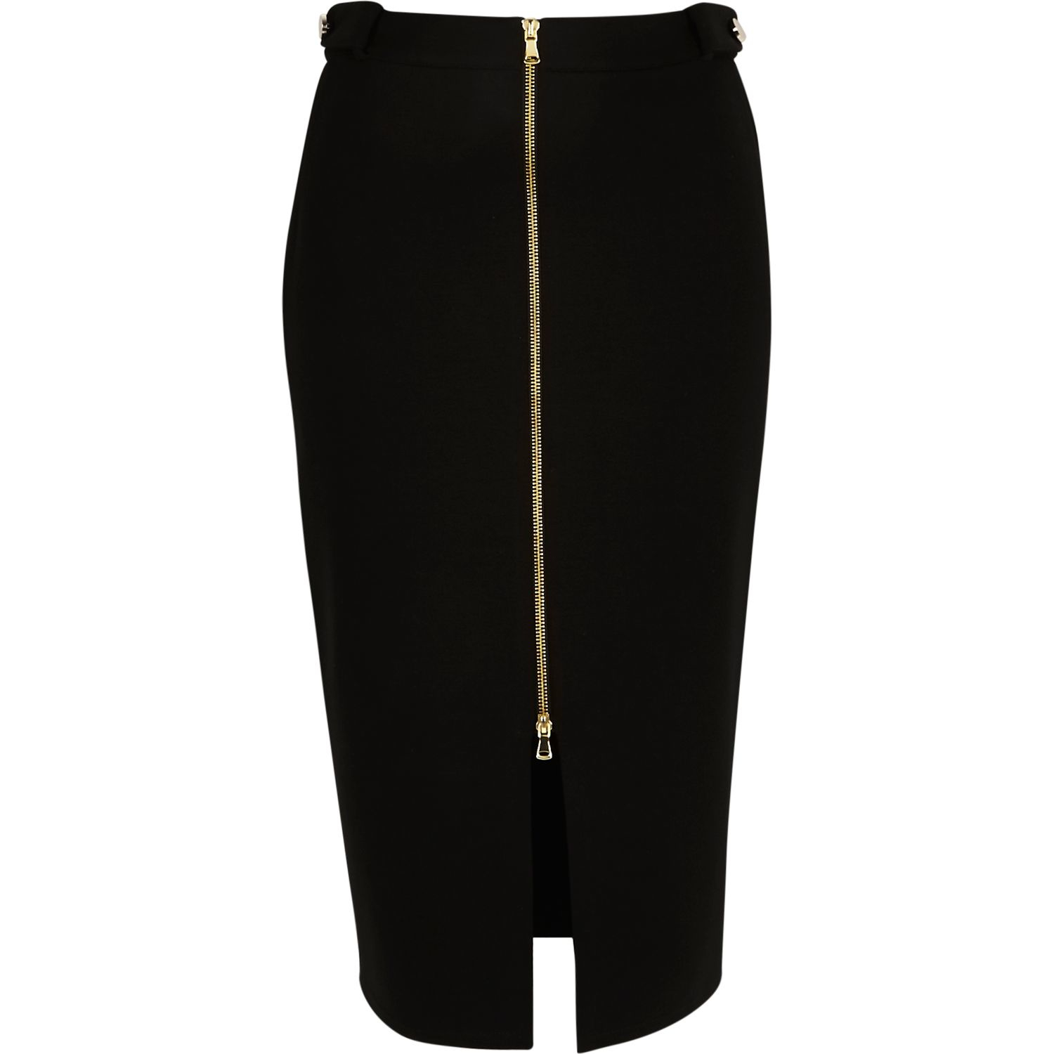 Zip Up Pencil Skirt - Dress Ala