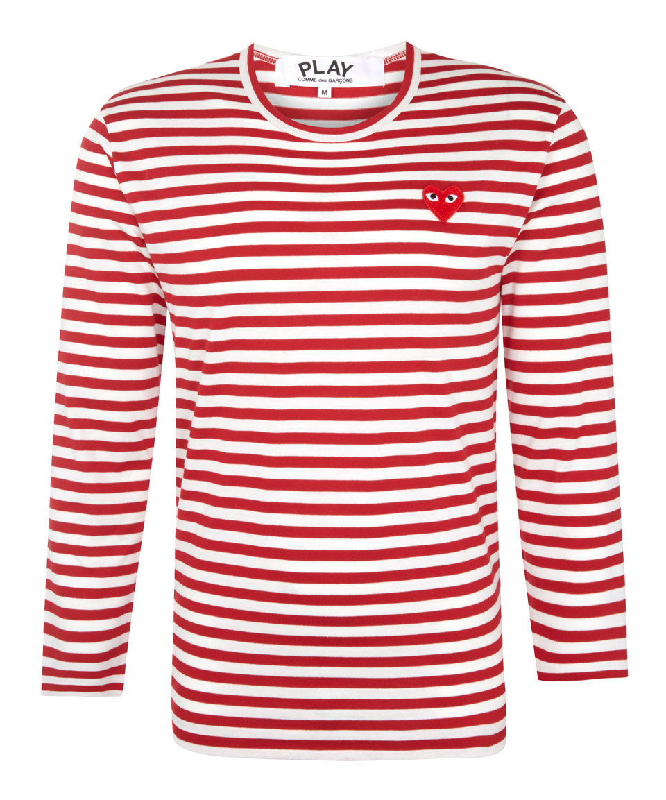 Lyst Play Comme Des Gar Ons Red Long Sleeve Stripe