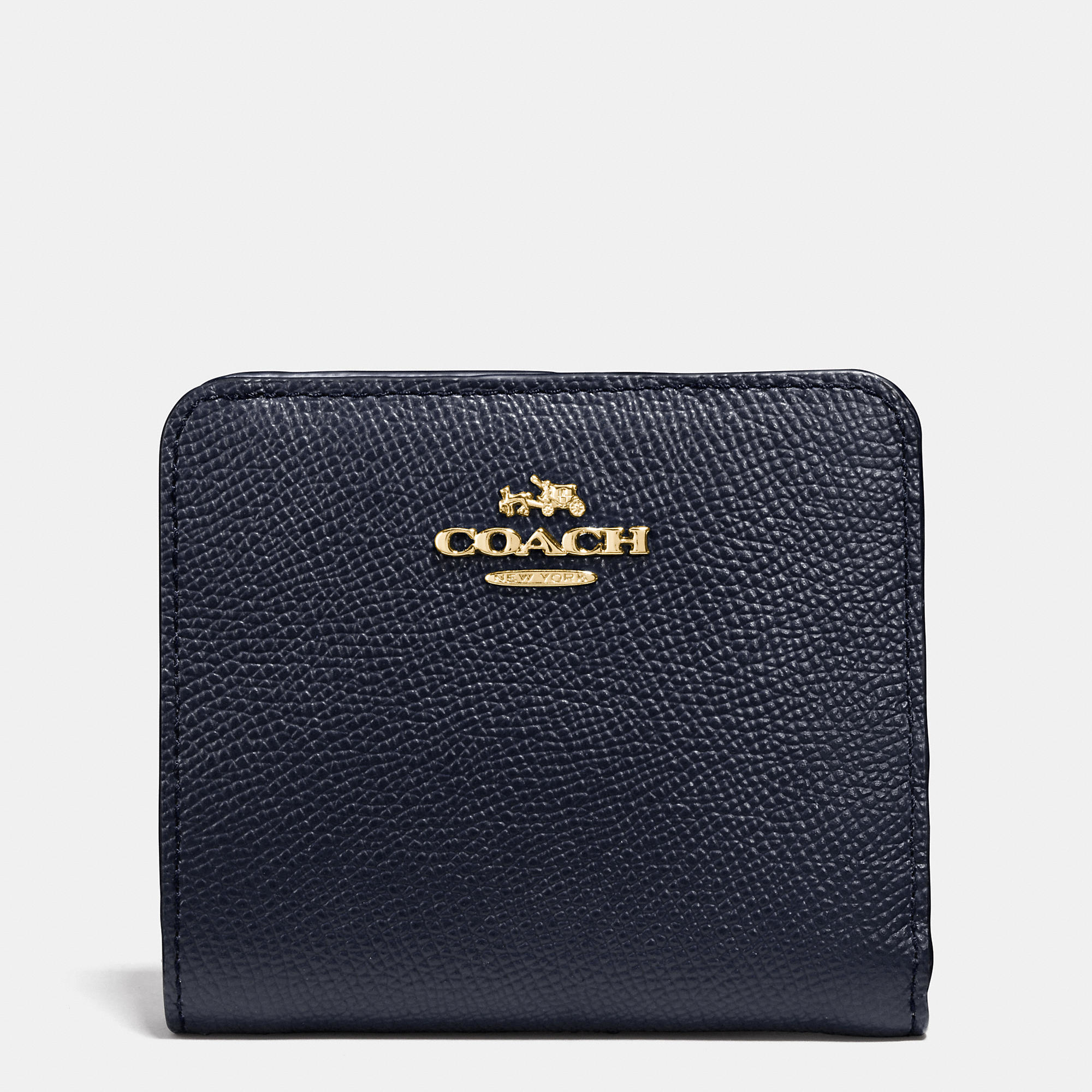 Coach Small Wallet In Colorblock Leather In Gold Light