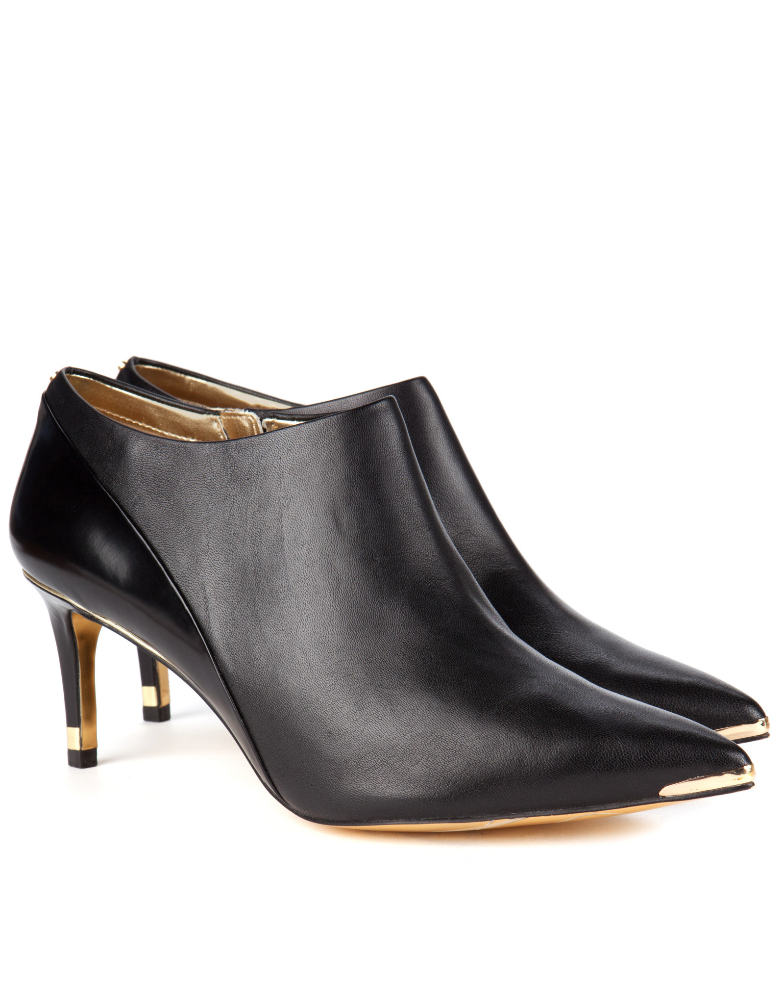 ted baker kitten heel boots in black lyst