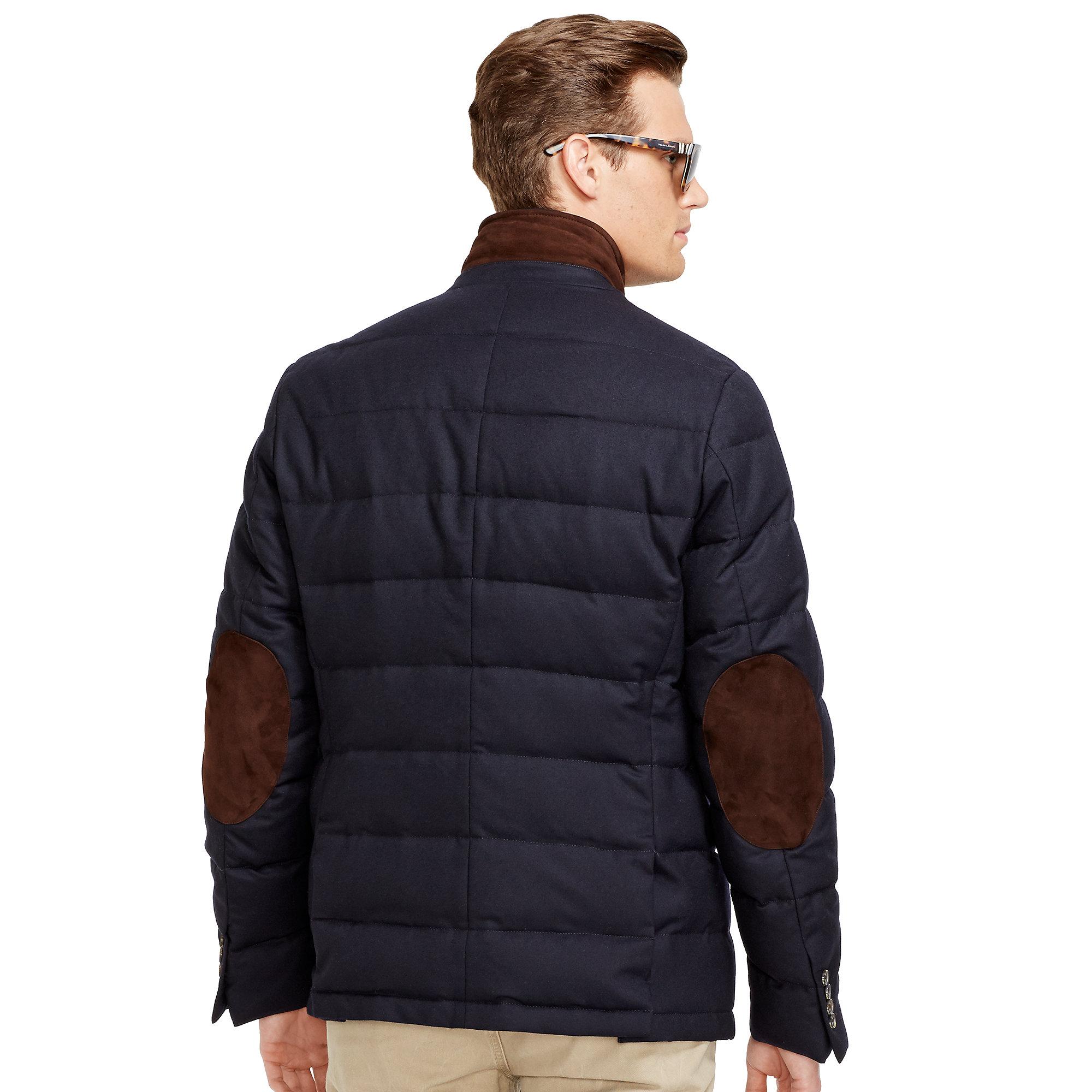 Lyst Polo Ralph Lauren Wool Quilted Down Sport Coat In