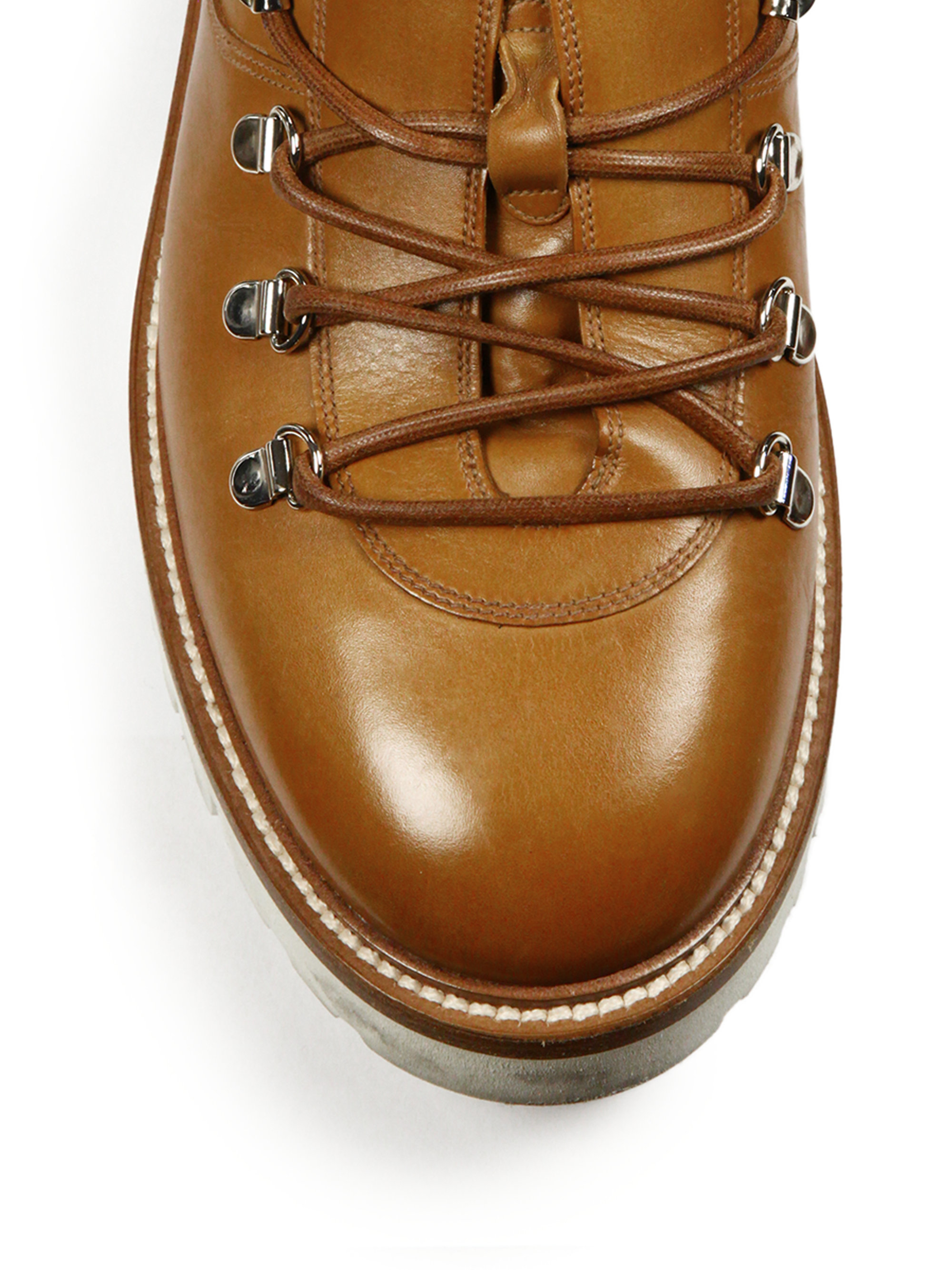 Lyst Bally J Cole For Leather Hiking Boots In Brown For Men