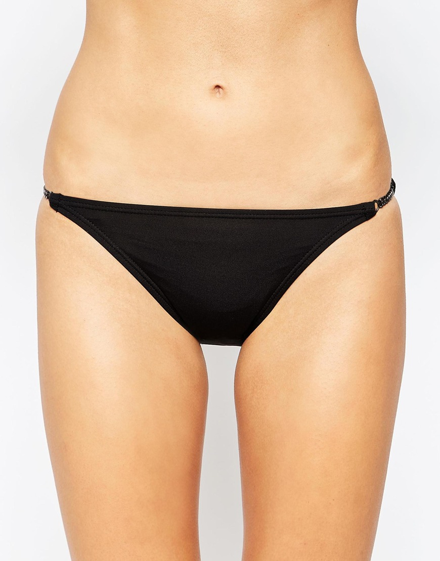 Lyst Vince Camuto Bikini Bottom With Chain Detail In Black