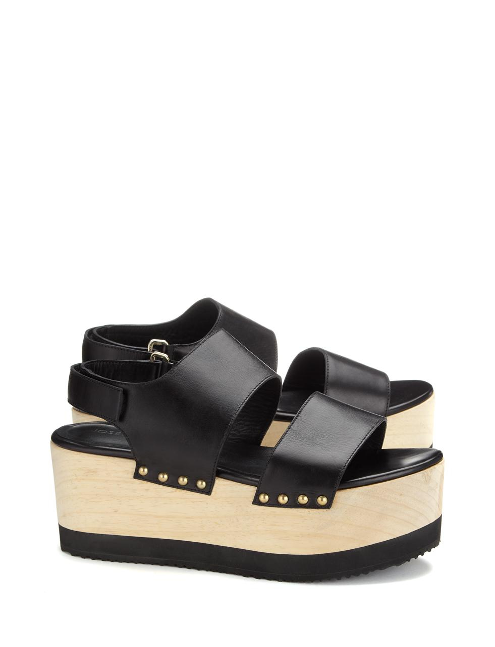 joseph platform sandal shoe in black lyst