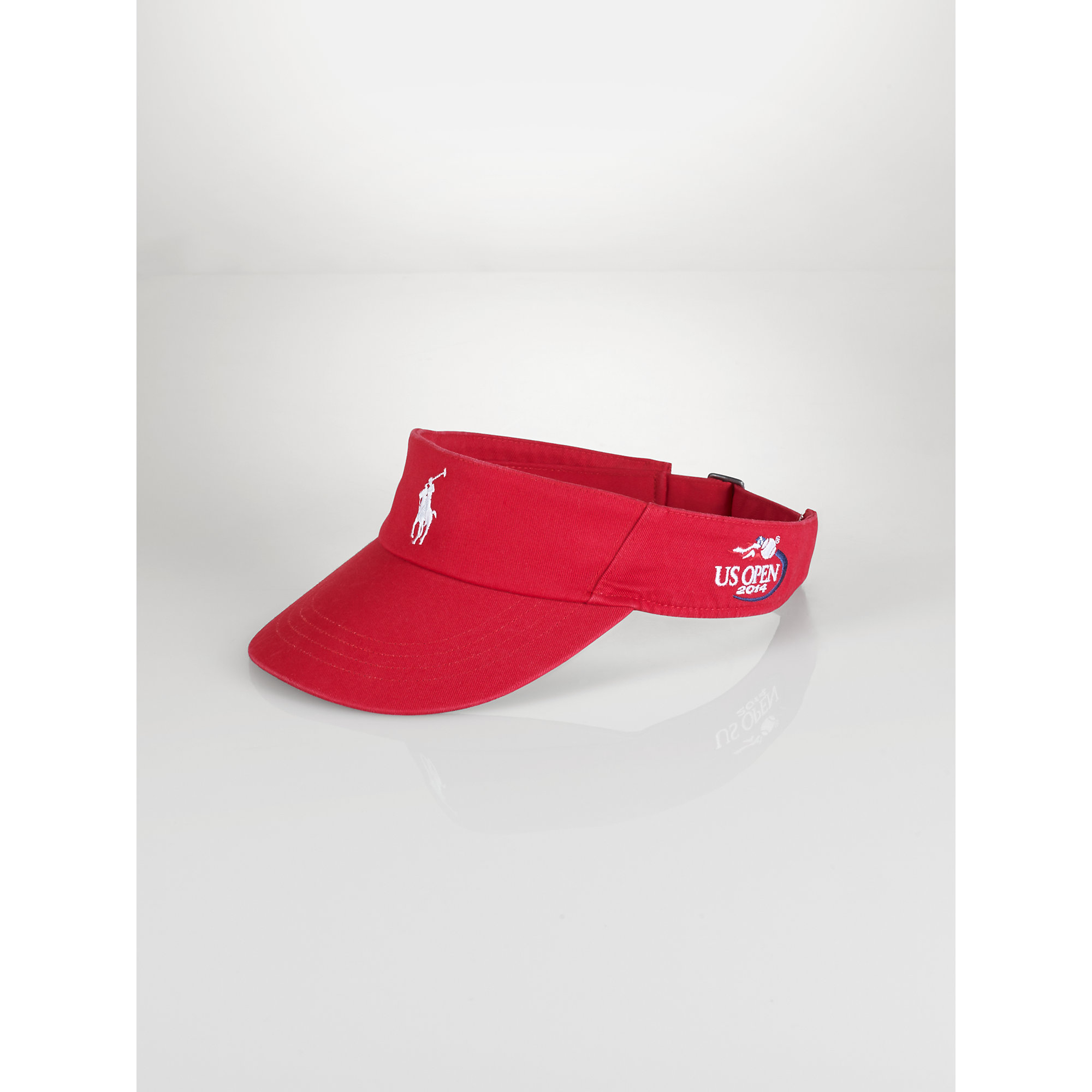 032a380f1b6 Lyst - Polo Ralph Lauren Us Open Pony Visor in Red for Men