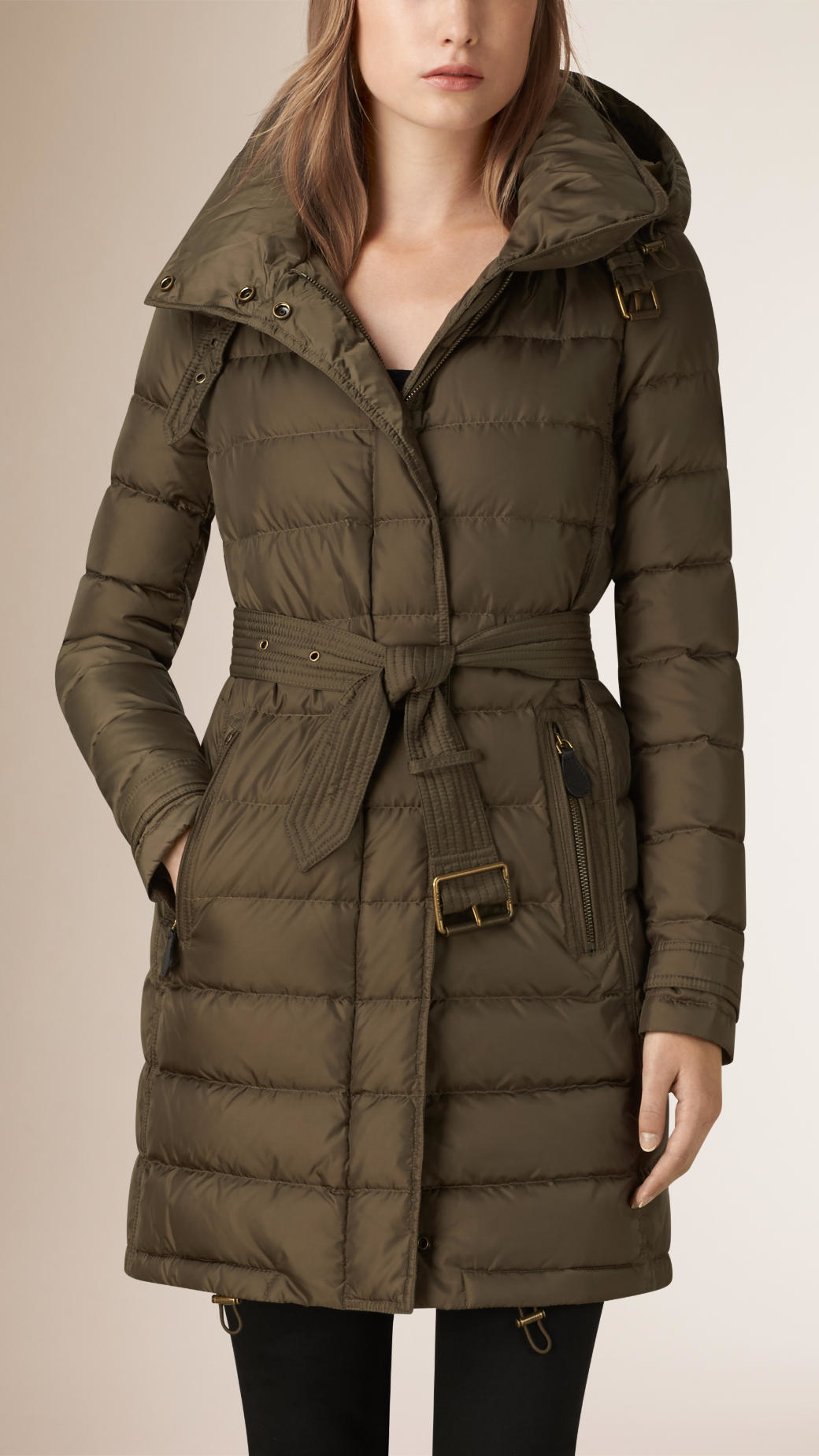 Burberry Down-filled Puffer Coat in Gray | Lyst