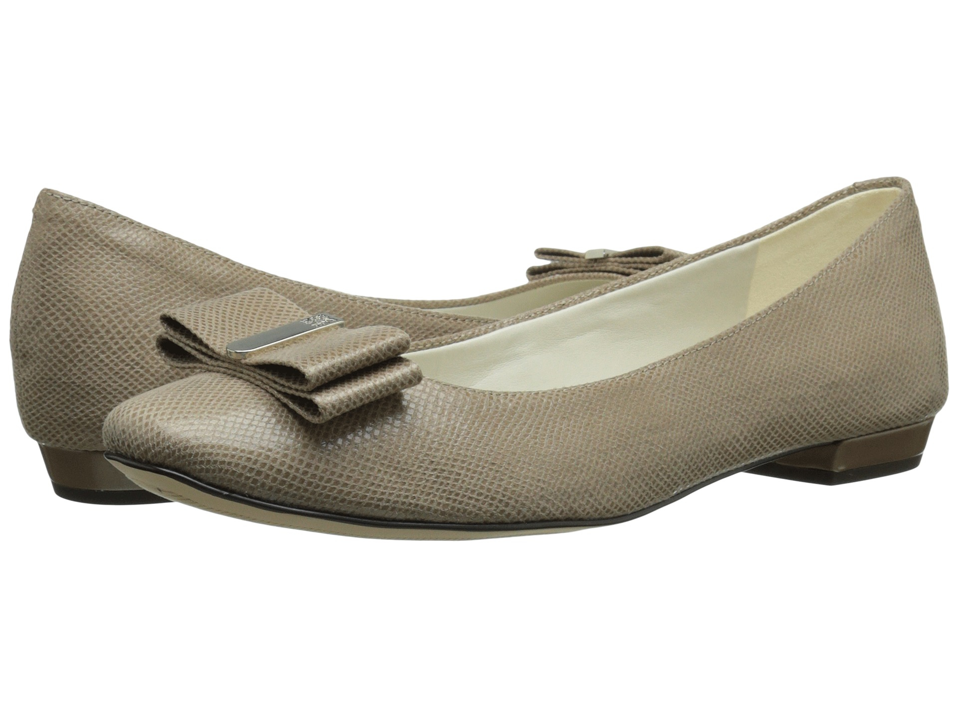 Womens Shoes Anne Klein Enticed Taupe Fabric