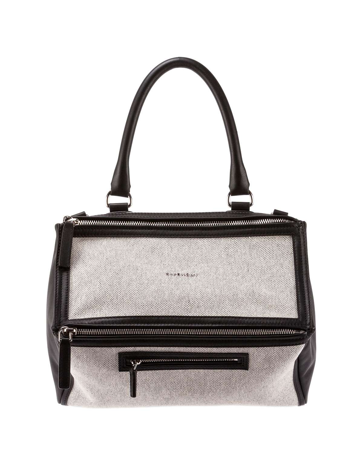 Lyst - Givenchy Pandora Medium Canvas   Leather Bag in Black c286f3b995a19
