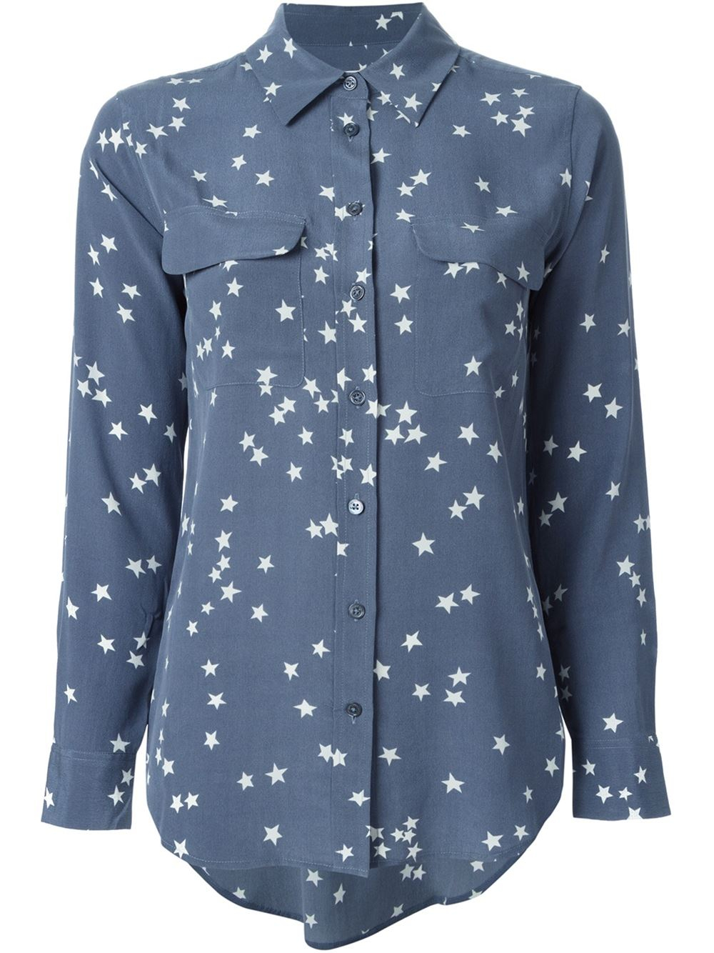 Equipment Star Print Shirt In Blue Lyst