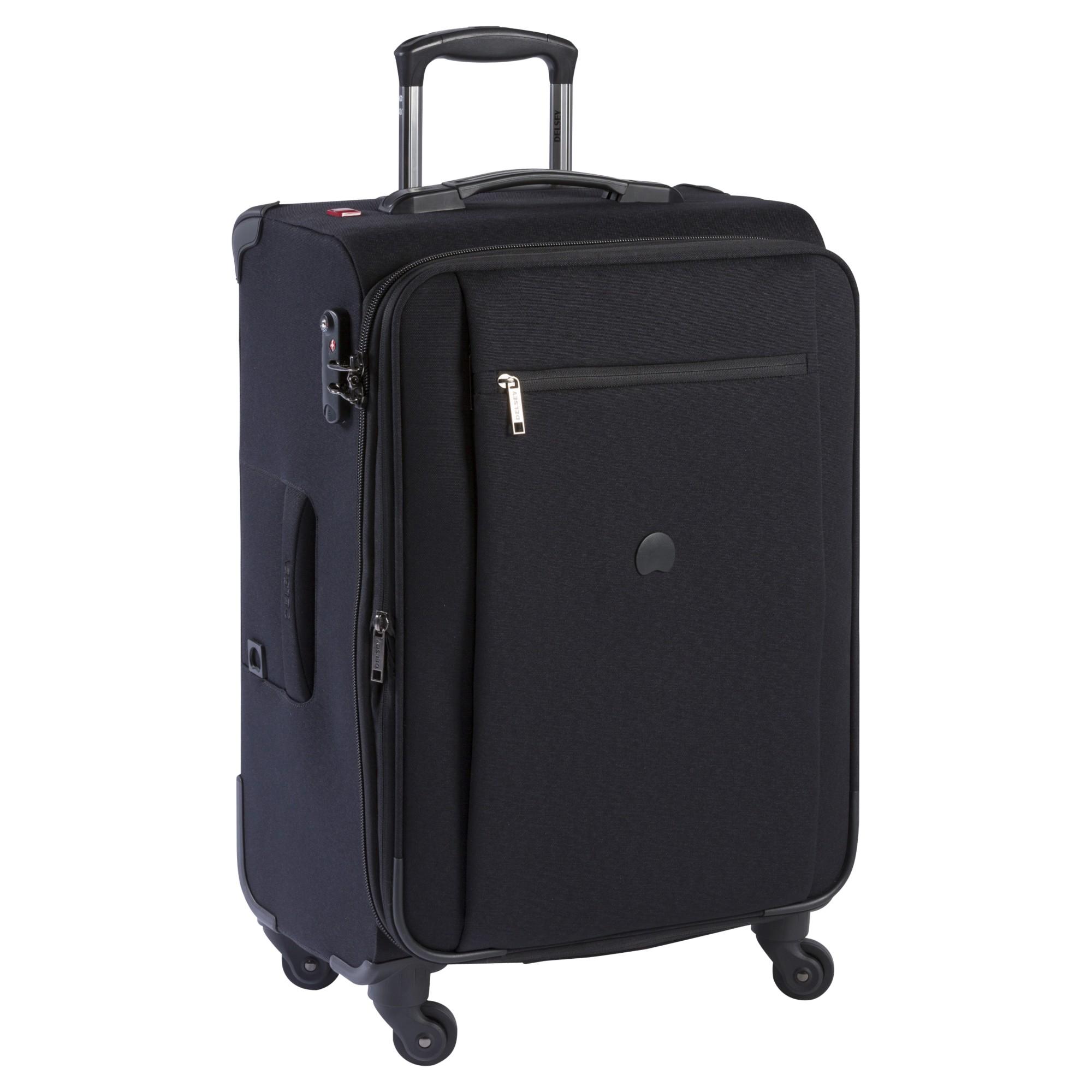 delsey montmartre 4 wheel 77cm large suitcase in black lyst. Black Bedroom Furniture Sets. Home Design Ideas