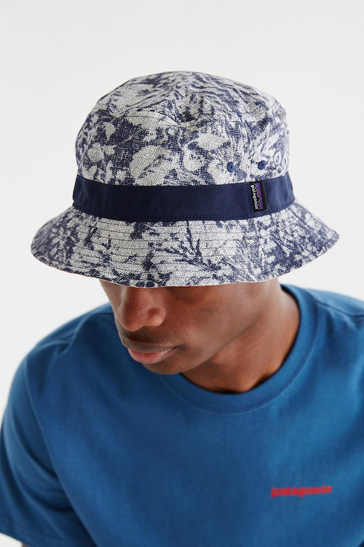 Lyst - Patagonia Printed Wavefarer Bucket Hat for Men c25cdfab084