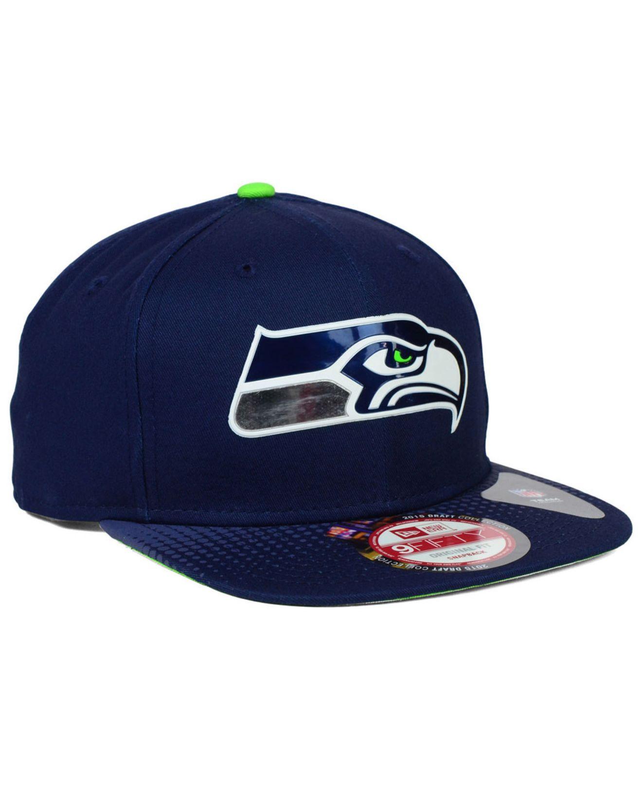 539293b46 Lyst - KTZ Seattle Seahawks 2015 Nfl Draft 9fifty Snapback Cap in ...