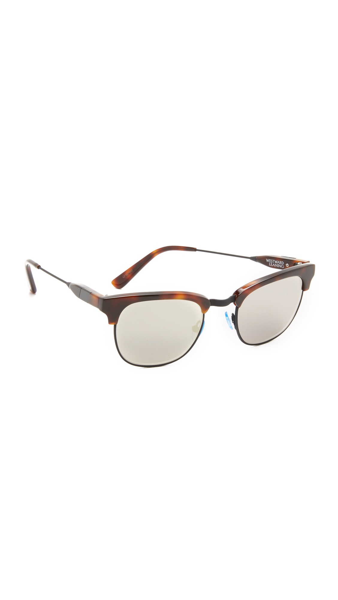 26aa161c436 Lyst - Westward Leaning Flat Lense Vanguard 17 Sunglasses in Brown