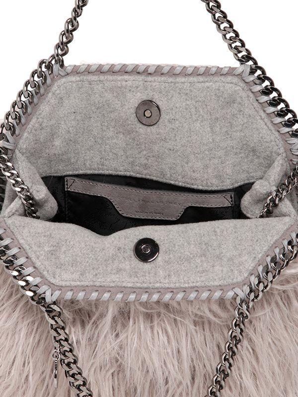 f69a343323 Stella McCartney - Pink Mini 3chain Falabella Faux Curly Fur Bag - Lyst
