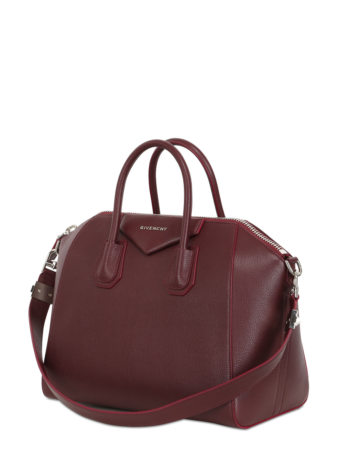 8c74dce7a6 Lyst - Givenchy Antigona Leather Tote in Red