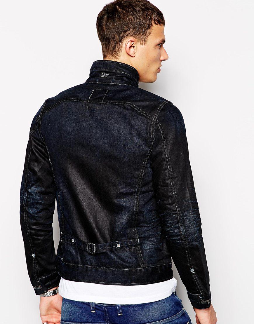 g star raw g star denim jacket new riley 3d slim fit in blue for men lyst. Black Bedroom Furniture Sets. Home Design Ideas