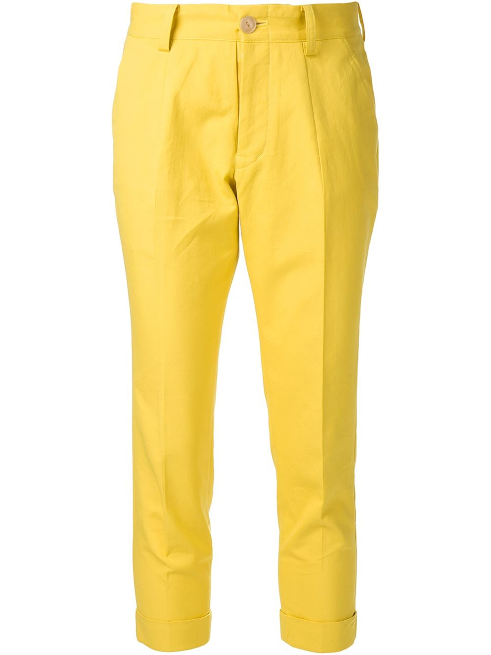 Arts & science Cropped Trousers in Yellow (yellow & orange ...