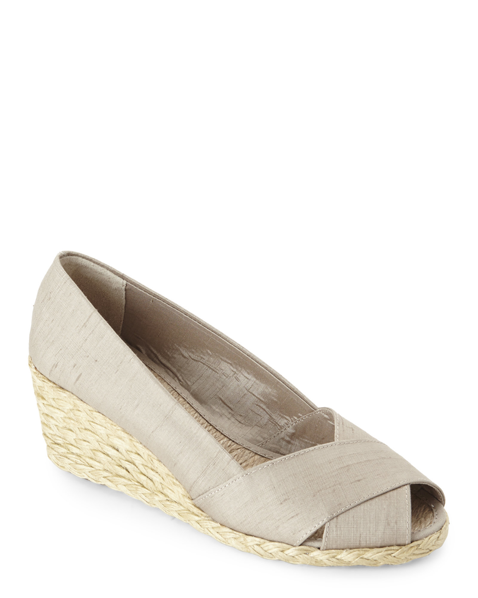 c9fc836fb90 Lyst - Ralph Lauren Cecilia Wedge Espadrilles in Natural