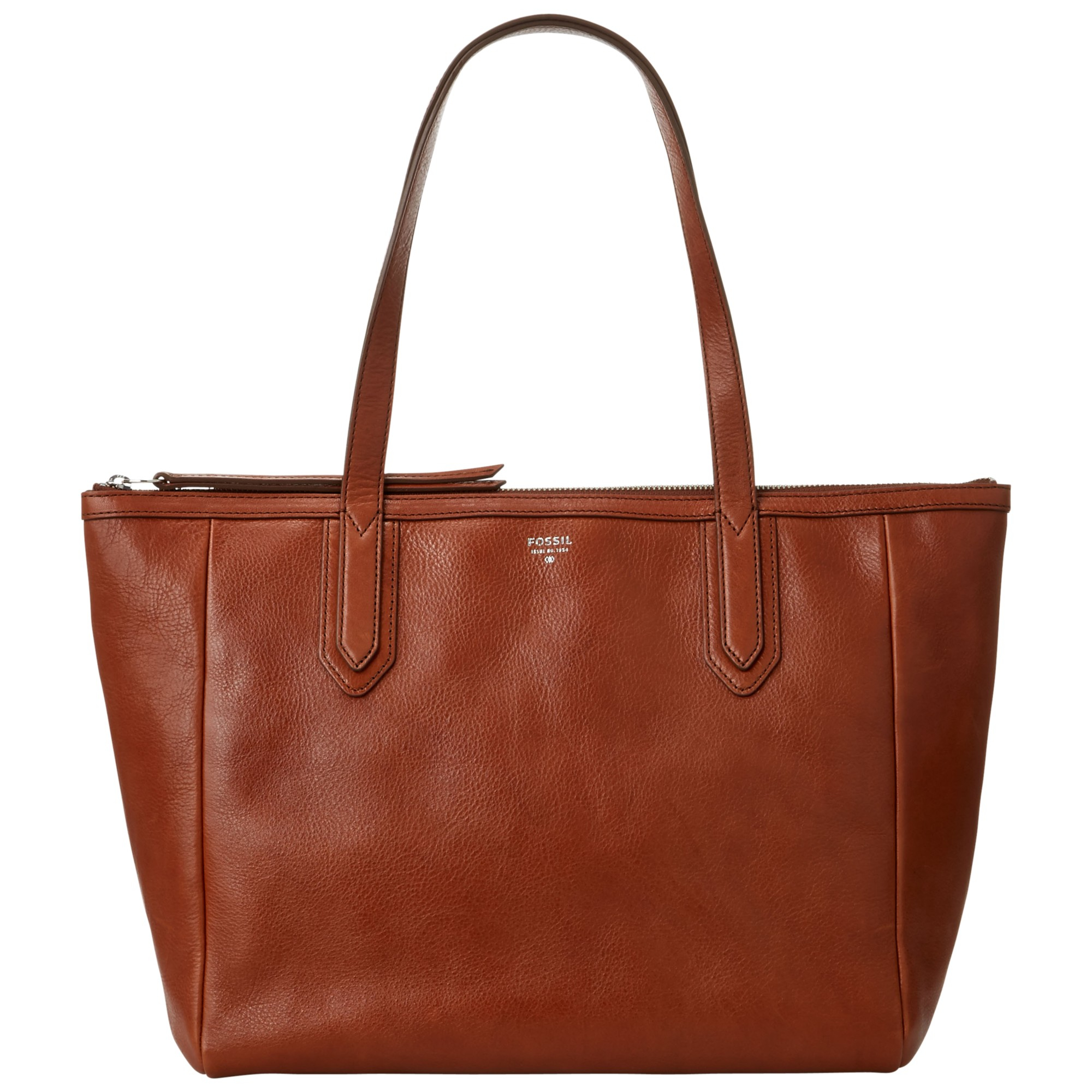 Fossil Sydney Leather Shopper Bag in Brown | Lyst