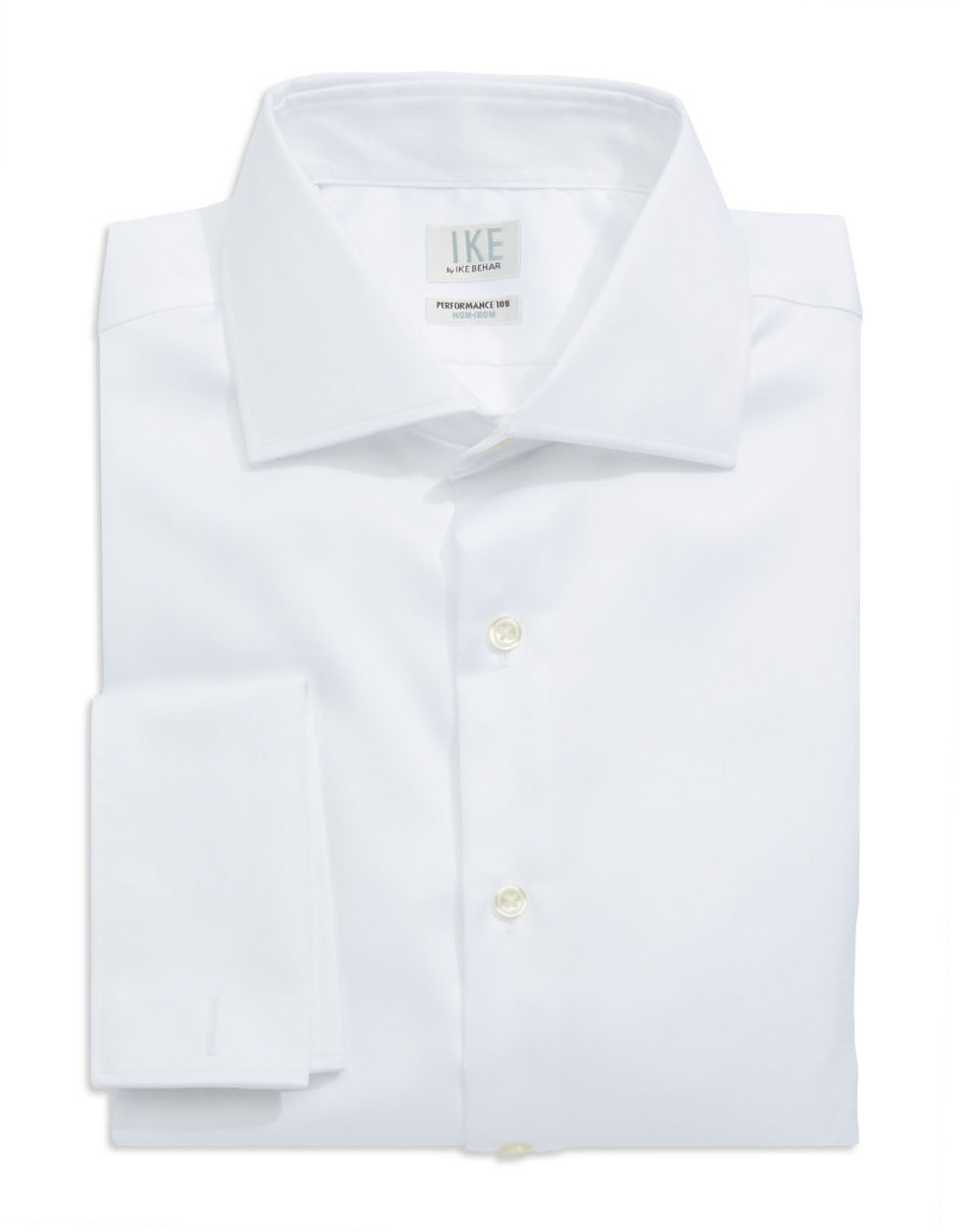 Ike by ike behar regular fit french cuffed herringbone for White herringbone dress shirt