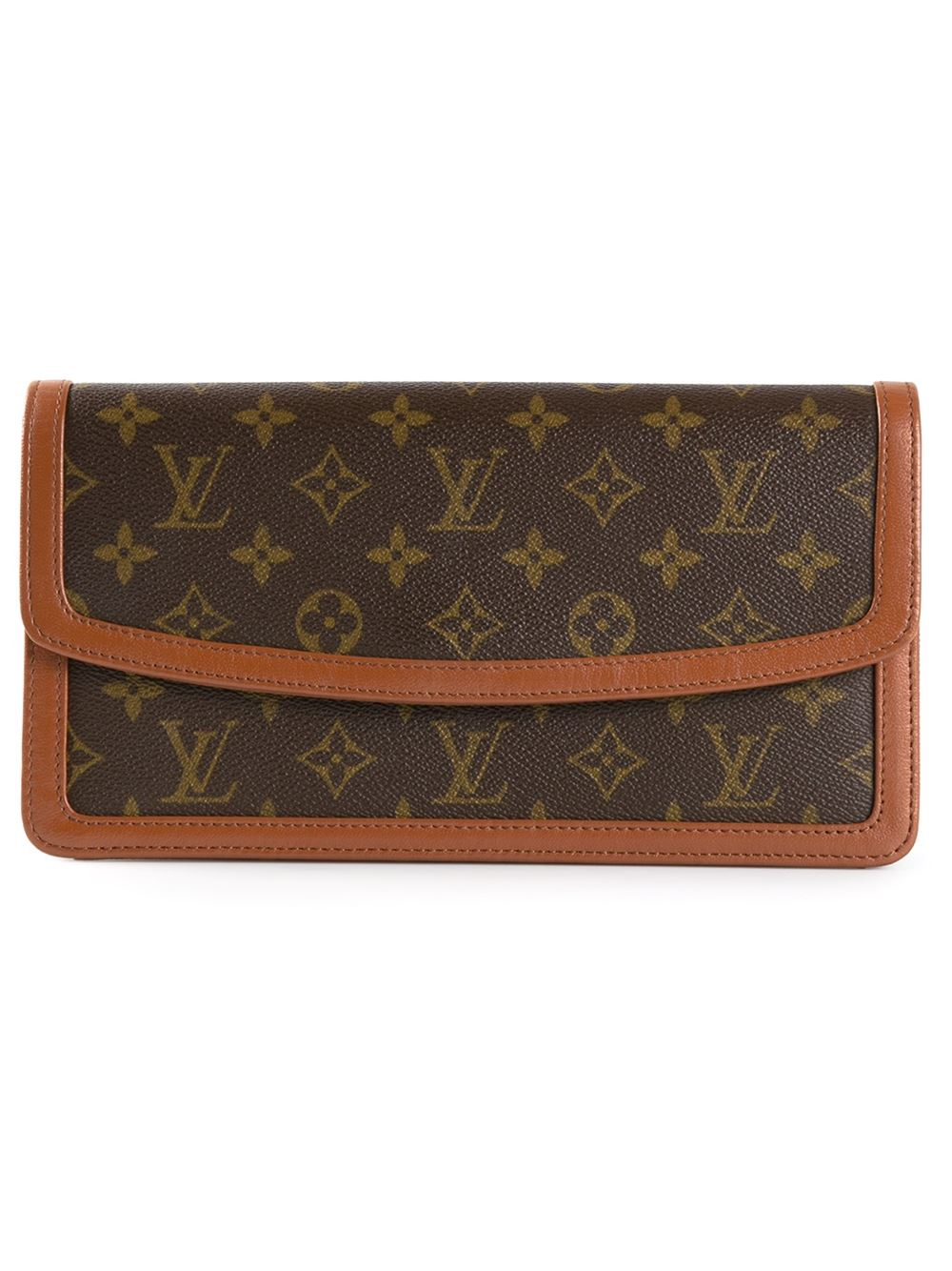 louis vuitton monogram dame clutch in brown lyst