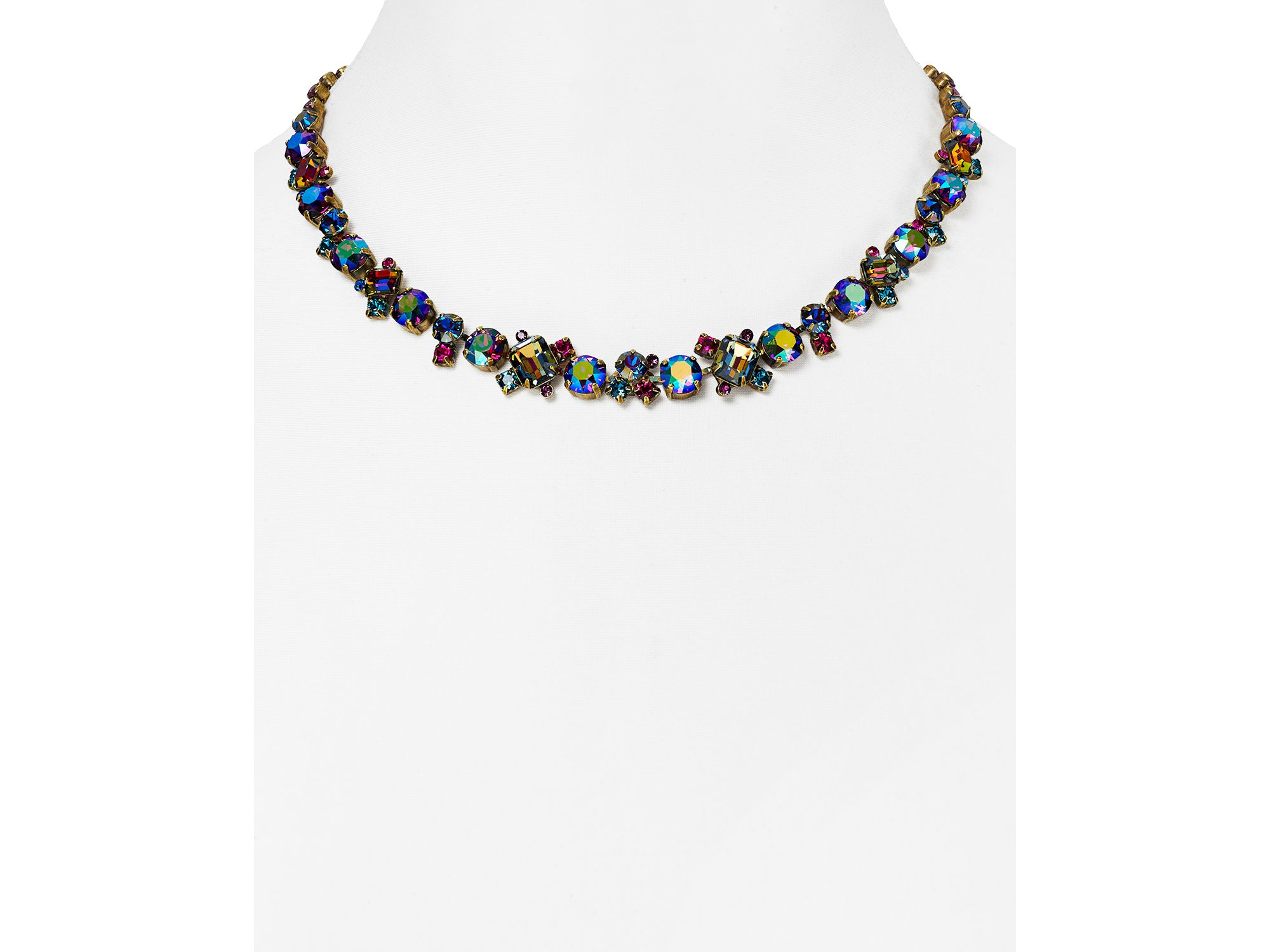 Lyst Sorrelli Multicolored Crystal Collar Necklace 16 Quot