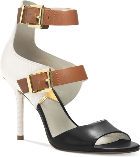 michael kors michael ankle sandals in white