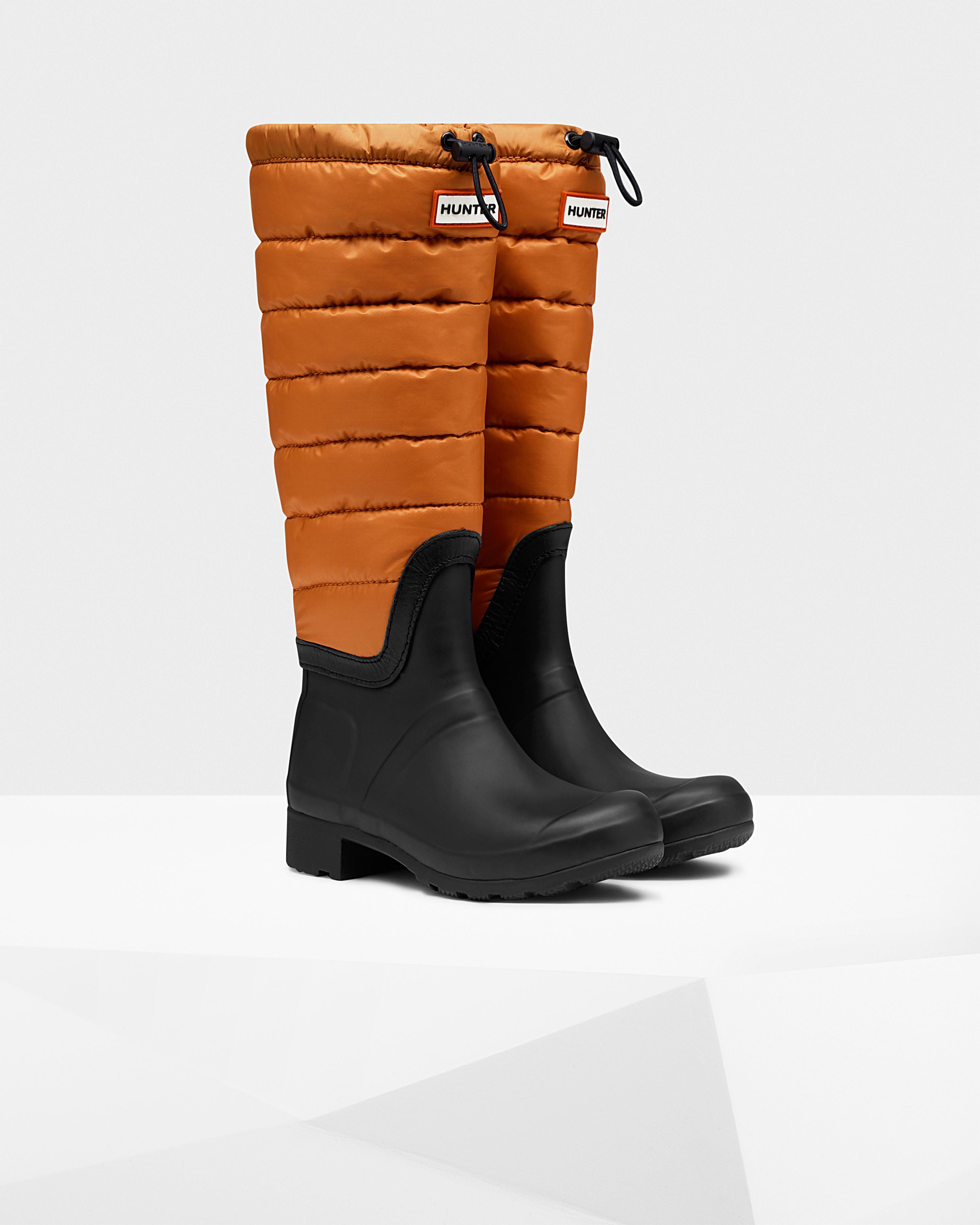 Lyst - Hunter Womens Original Tall Quilted Leg Rain Boots In Orange