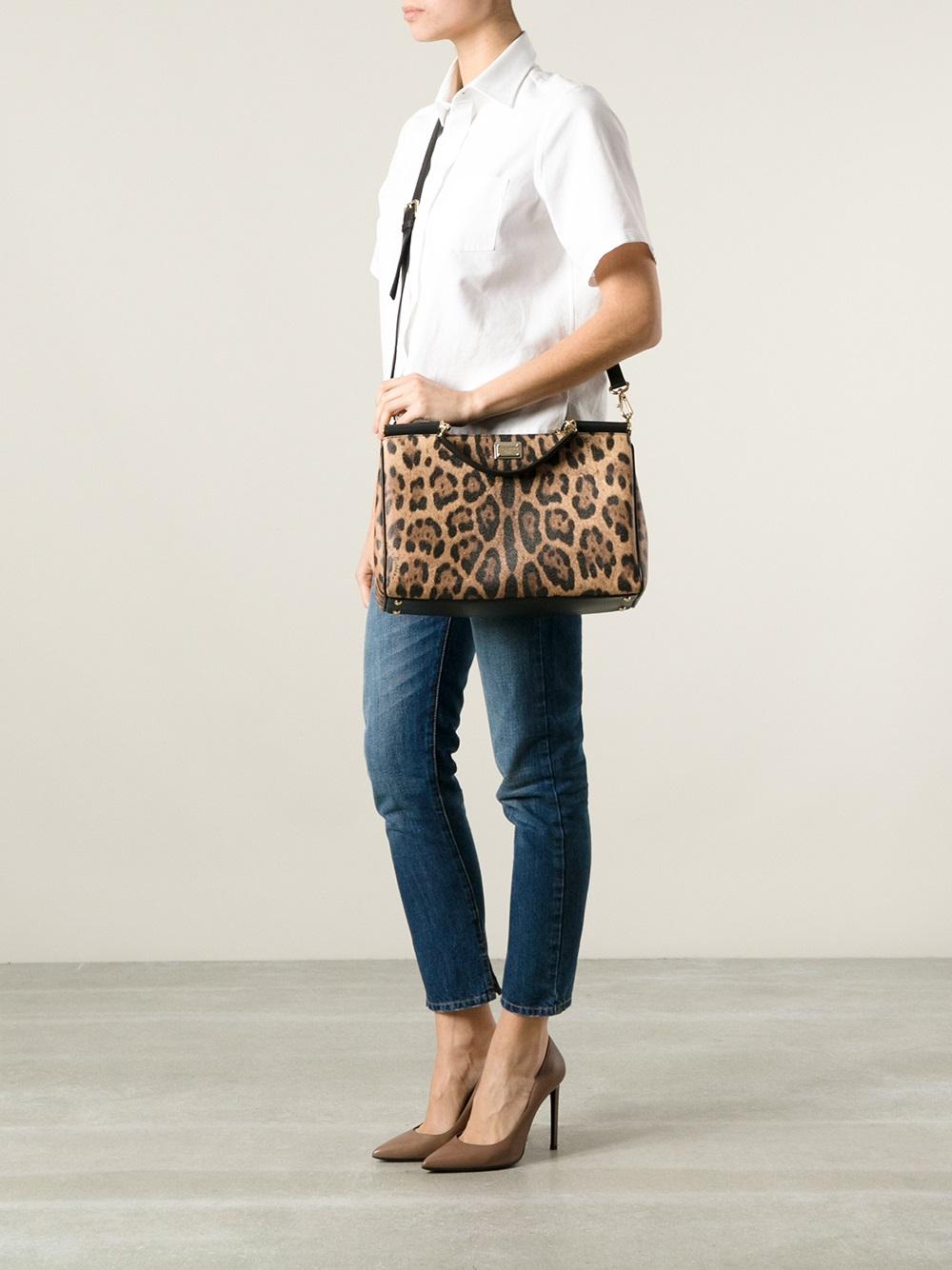 1cc65561ee Lyst - Dolce   Gabbana Leopard Print Shoulder Bag