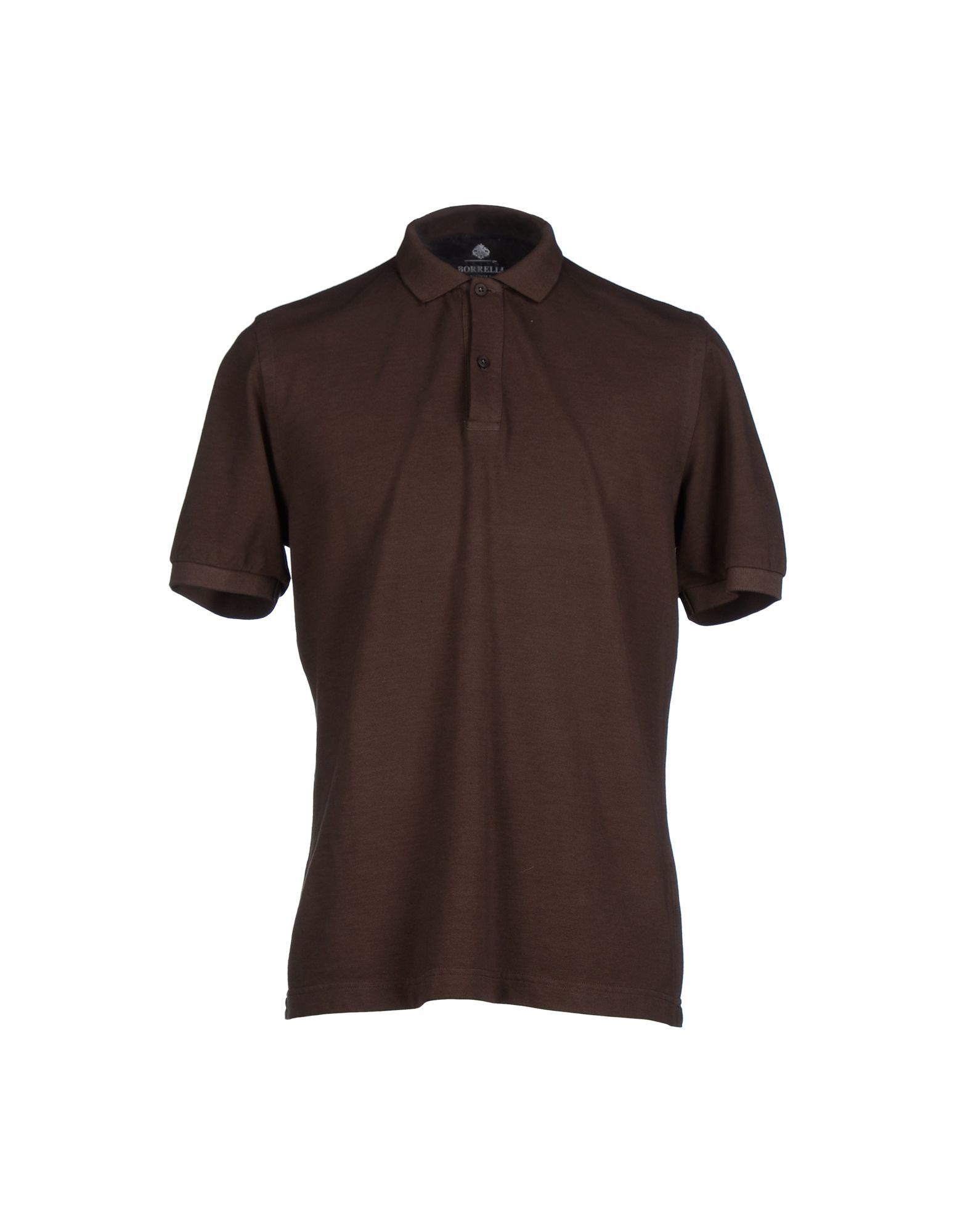 Luigi Borrelli Napoli Brown Polo Shirt For Men Lyst