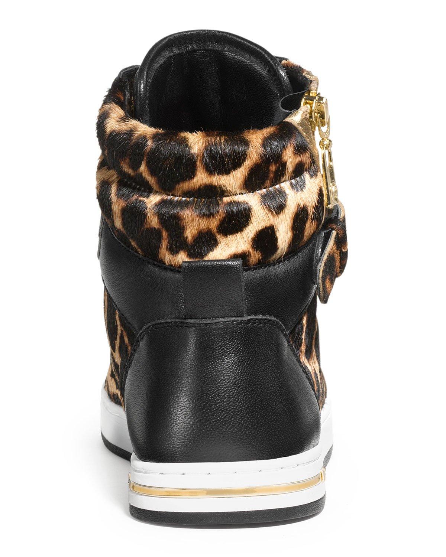 michael kors michael glam leopard print hitop lyst