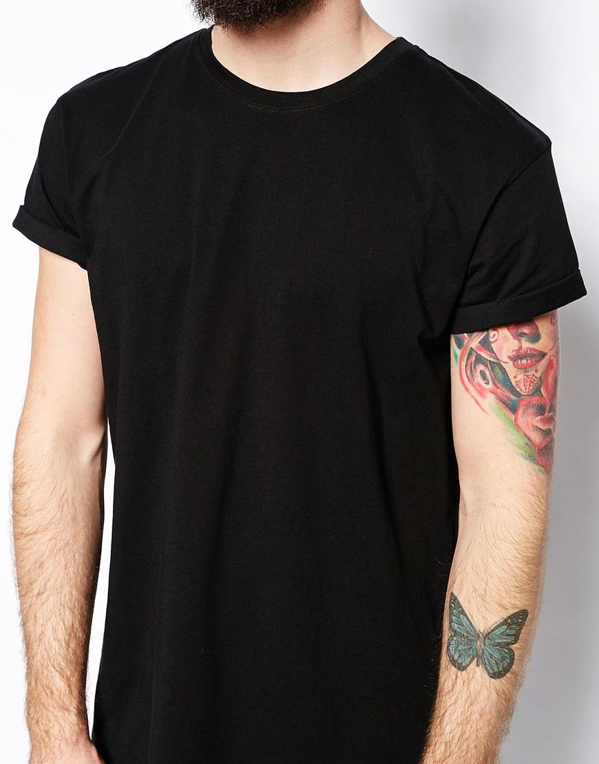Black t shirt back custom shirt for Custom t shirts front and back